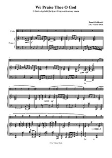We Praise Thee o God: For viola and piano by Ernst Heinrich Gebhardt
