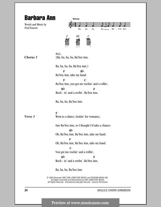 Barbara Ann The Beach Boys By F Fassert Sheet Music On Musicaneo