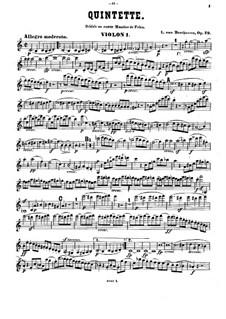 String Quintet in C Major, Op.29: Violin I part by Ludwig van Beethoven