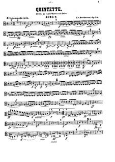 String Quintet in C Major, Op.29: Viola II part by Ludwig van Beethoven