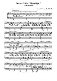 Movement I: For a single performer (high quality sheet music) by Ludwig van Beethoven