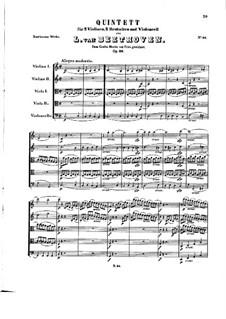 String Quintet in C Major, Op.29: Full score by Ludwig van Beethoven