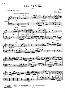 Sonata for Piano No.9 in D Major, K.311: For a single performer by Wolfgang Amadeus Mozart