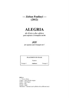 Joy, for soprano and 2 trumpets: Joy, for soprano and 2 trumpets by Zoltan Paulinyi
