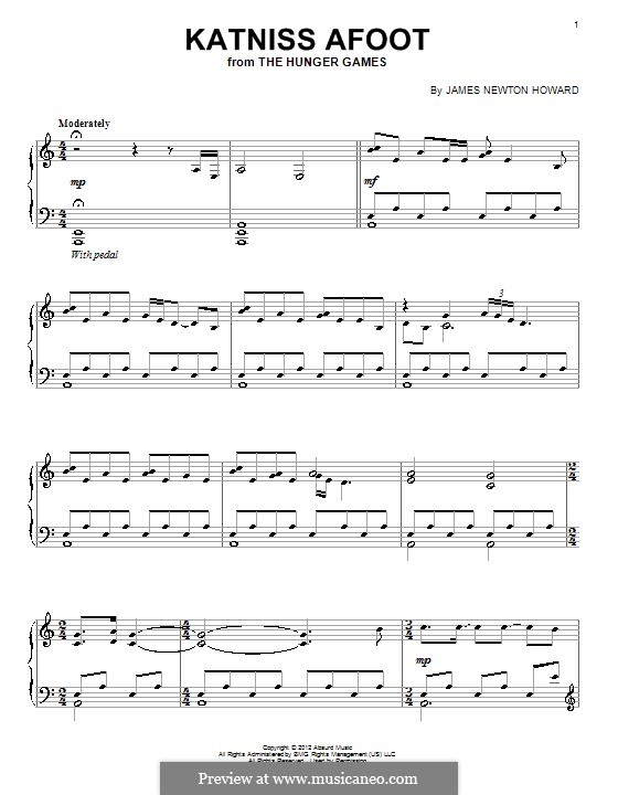 Katniss Afoot: For piano by James Newton Howard