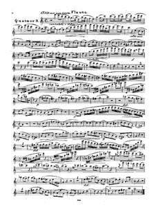 Quartet for Flute and Strings No.2 in C Major, Op.74: Flute part by Traugott Maximilian Eberwein