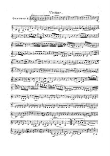 Quartet for Flute and Strings No.2 in C Major, Op.74: Violin part by Traugott Maximilian Eberwein