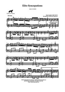 Elite Syncopations: Easy version by Scott Joplin