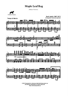 Maple Leaf Rag: For piano (master version) by Scott Joplin