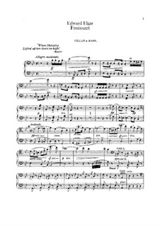 Froissart, Op.19: Cello and double bass part by Edward Elgar