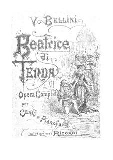 Beatrice di Tenda: Piano-vocal score by Vincenzo Bellini