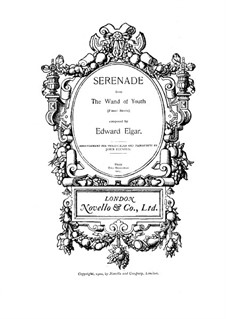 The Wand of Youth. Suite No.1, Op.1a: No.2 Serenade, for cello and piano by Edward Elgar