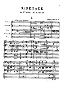 Serenade for String Orchestra, Op.20: Full score by Edward Elgar