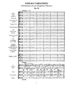 Complete set: Full score by Edward Elgar