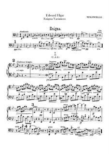Complete set: Cello part by Edward Elgar