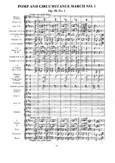 March No.1: Full score by Edward Elgar