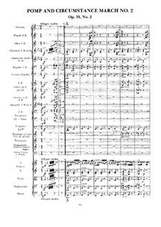 March No.2: Full score by Edward Elgar