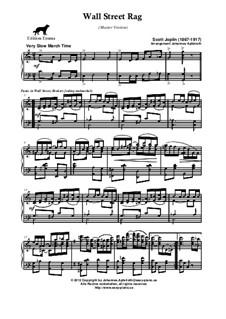 Wall Street Rag: Master version by Scott Joplin