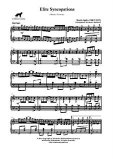 Elite Syncopations: Master version by Scott Joplin