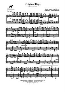 Original Rags: Master version by Scott Joplin