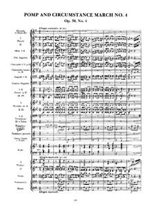 March No.4: Full score by Edward Elgar