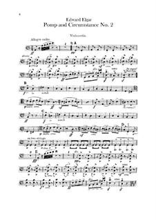 March No.2: Cellos part by Edward Elgar
