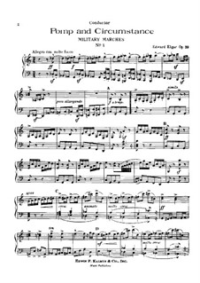 March No.1: For piano by Edward Elgar