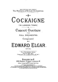 Cockaigne (In London Town), Op.40: Full score by Edward Elgar