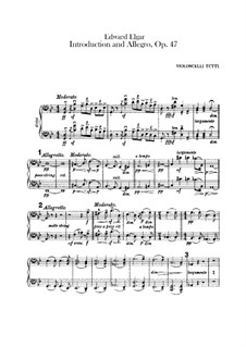 Introduction and Allegro, Op.47: Cellos parts by Edward Elgar