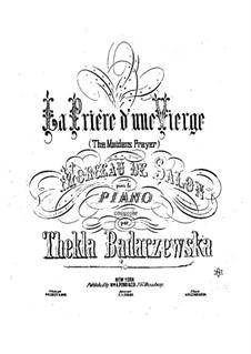 La priere d'une vierge (A Maiden's Prayer): For piano by Tekla Bądarzewska-Baranowska