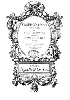Symphony No.2 in E Flat Major, Op.63: Version for piano by Edward Elgar