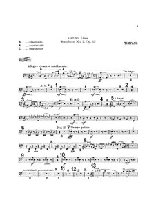 Symphony No.2 in E Flat Major, Op.63: Percussion parts by Edward Elgar