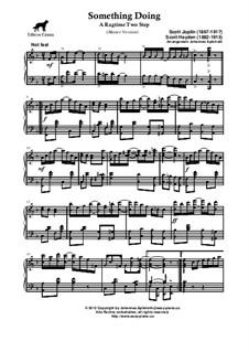 Something Doing: Master version by Scott Joplin, Scott Hayden