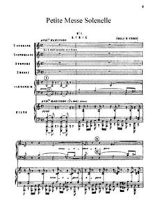 Petite Messe Solennelle: Complete set by Gioacchino Rossini