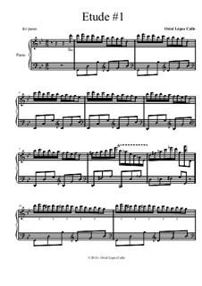 Etude No.1 for piano: Etude No.1 for piano by OLC Barcelona Sheet Music
