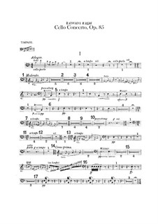 Concerto for Cello and Orchestra, Op.85: Timpani part by Edward Elgar