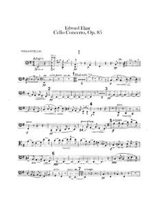 Concerto for Cello and Orchestra, Op.85: Cello part by Edward Elgar
