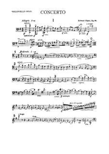 Concerto for Cello and Orchestra, Op.85: Solo part by Edward Elgar