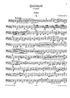 Brass Quintet No.1 in B Flat Minor, Op.5: Tuba part by Victor Ewald
