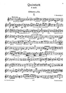 Brass Quintet No.1 in B Flat Minor, Op.5: Alto horn part by Victor Ewald