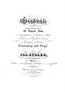 Omnes de Saba venient, HV 40: Parts by Joseph Eybler