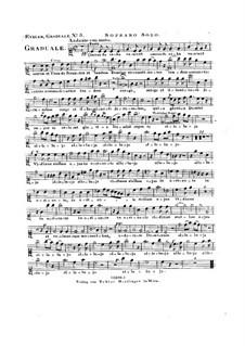 Omnes de Saba venient, HV 40: Vocal parts by Joseph Eybler