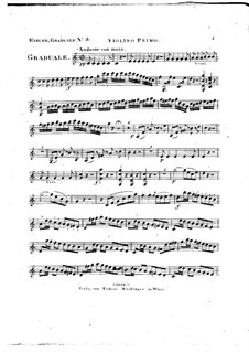 Omnes de Saba venient, HV 40: Violin I part by Joseph Eybler