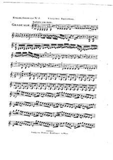 Omnes de Saba venient, HV 40: Violin II part by Joseph Eybler
