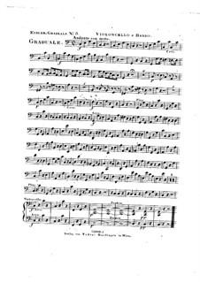 Omnes de Saba venient, HV 40: Cello and double bass parts by Joseph Eybler