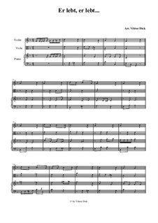 He Lives, He Lives: For violin, viola and piano by folklore