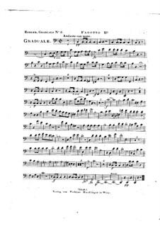 Omnes de Saba venient, HV 40: Bassoon II part by Joseph Eybler