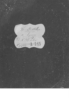 Le postillon de Lonjumeau (The Coachman of Lonjumeau): Violin I part by Adolphe Adam