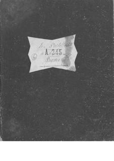 Le postillon de Lonjumeau (The Coachman of Lonjumeau): Cello and double bass parts by Adolphe Adam