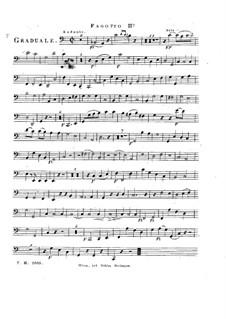 Sperate in Deo, HV 41: Bassoon II part by Joseph Eybler